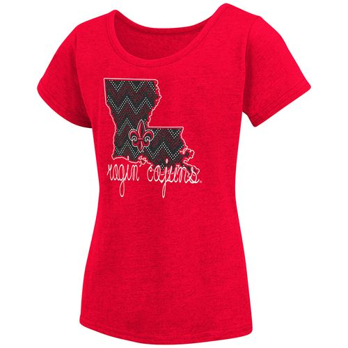 Colosseum Athletics™ Girls' University of Louisiana at Lafayette Tissue 2017 T-shirt