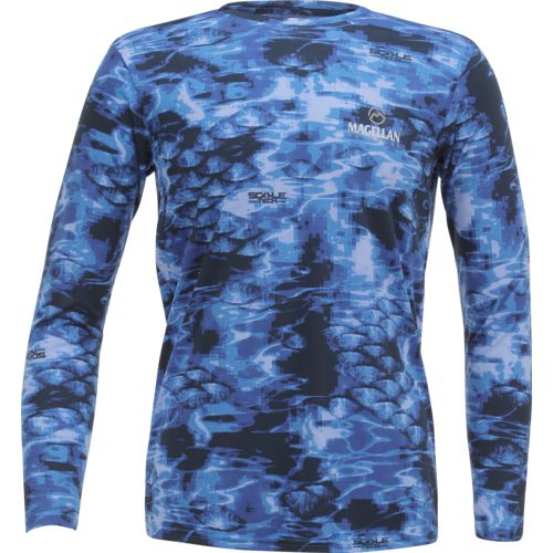 Magellan Outdoors Men's Moisture Management Scaletech Long Sleeve Shirt