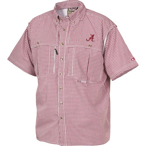 Drake Waterfowl Men's University of Alabama Gameday Wingshooter's Short Sleeve Button-Down S