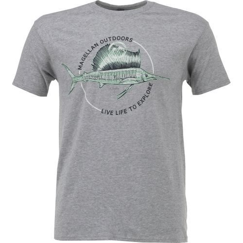 Display product reviews for Magellan Outdoors Men's Sketched Sailfish T-shirt