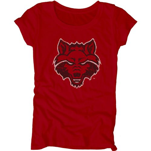 Blue 84 Juniors' Arkansas State University Mascot Soft T-shirt