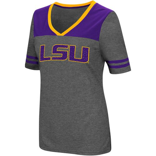 Colosseum Athletics Women's Louisiana State University Twist V-neck 2.3 T-shirt