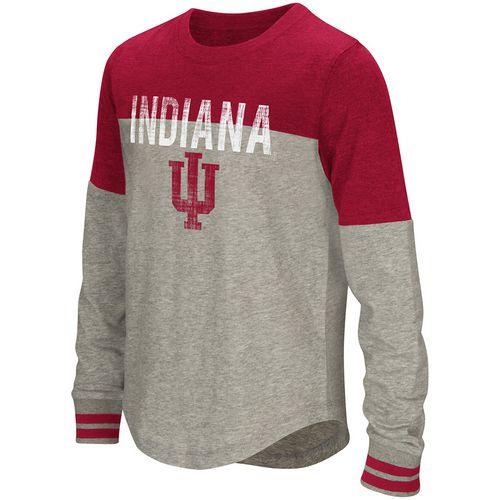 Colosseum Athletics Girls' Indiana University Baton Long Sleeve T-shirt