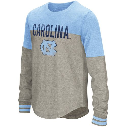 Colosseum Athletics Girls' University of North Carolina Baton Long Sleeve T-shirt