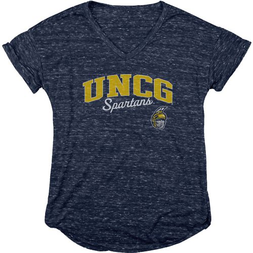 Blue 84 Women's University of North Carolina at Greensboro Dark Confetti V-neck T-shirt