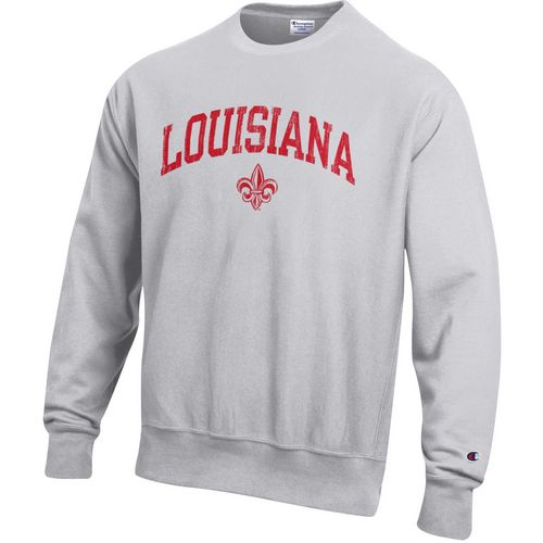 Champion Men's University of Louisiana at Lafayette Reverse Weave Crew Sweatshirt