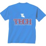 New World Graphics Women's Louisiana Tech University Comfort Color Initial Pattern T-shirt - view number 1