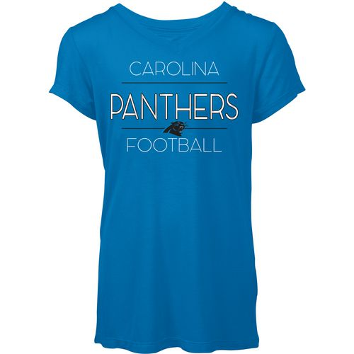 5th & Ocean Clothing Women's Carolina Panthers Between the Lines T-shirt