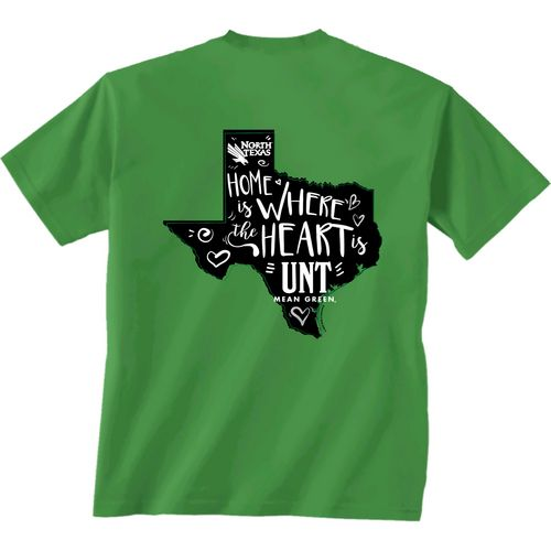 New World Graphics Girls' University of North Texas Where the Heart Is Short Sleeve T-shirt