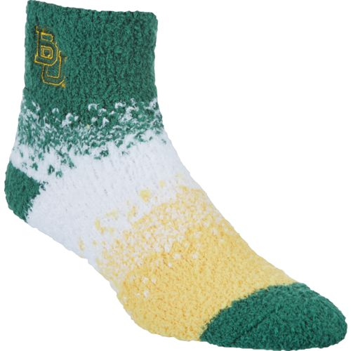 For Bare Feet Women's Baylor University Marquee Sleep Soft Quarter Socks