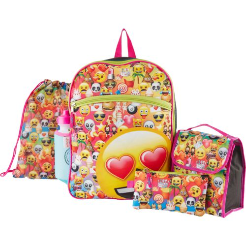 Emoji Kids' 16 in Backpack with Lunch Kit