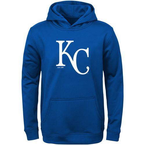 MLB Boys' Kansas City Royals Logo Fleece Pullover Hoodie