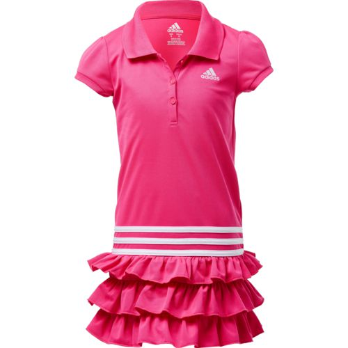 adidas Toddler Girls' Ruffle Polo Dress