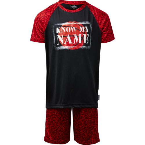 Spalding Boys' Know My Name T-shirt and Shorts Set