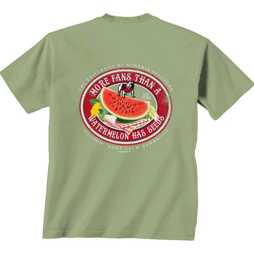 New World Graphics Women's University of Georgia Watermelon Label T-shirt