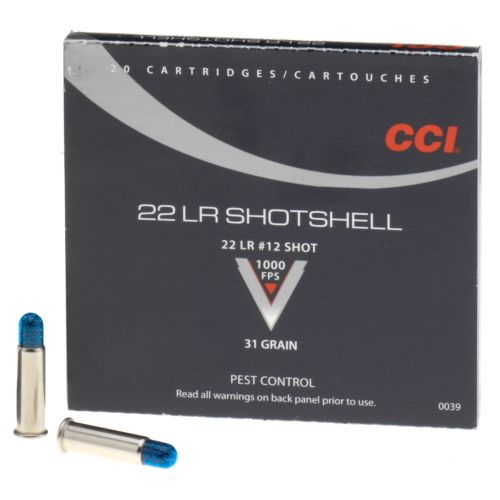 Display product reviews for CCI® .22 LR 31-Grain Rimfire Handgun Shotshells