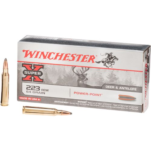 Display product reviews for Winchester Super-X Power-Point .223 Remington 64-Grain Rifle Ammunition