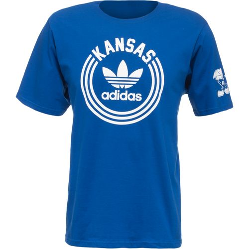 Image for adidas Men's University of Kansas Rounded T-shirt from Academy