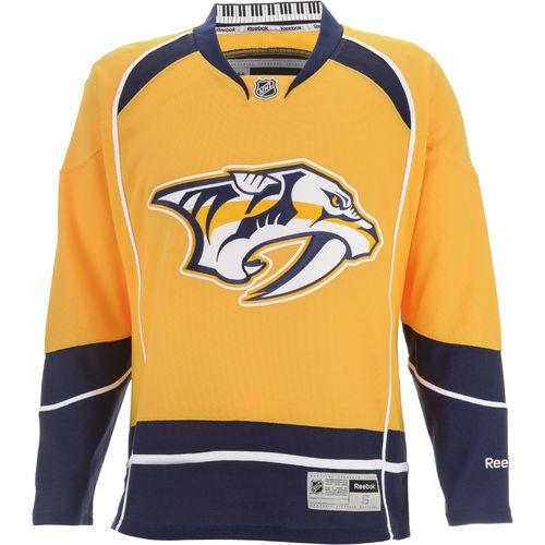 Reebok Adults' Nashville Predators Center Ice® Premier Team Jersey