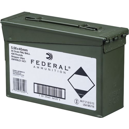 Federal Premium American Eagle XM193 5.56 NATO 55-Grain Centerfire Rifle Ammunition