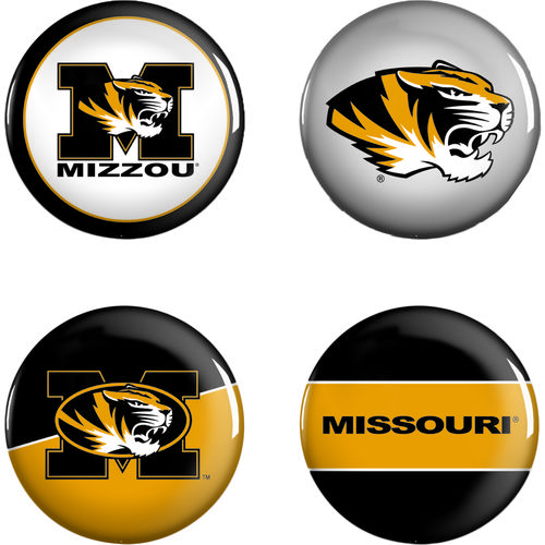WinCraft University of Missouri Buttons 4-Pack