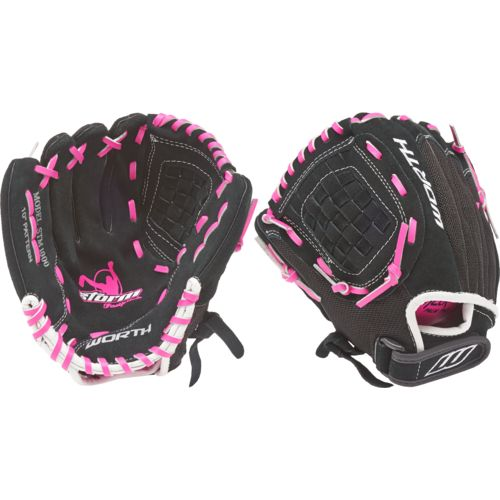 Worth Youth Storm Basket Web 10 in Pitcher/Infield Glove Left-handed