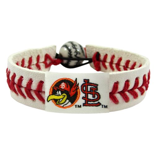 GameWear Adults' St. Louis Cardinals Fredbird Classic Baseball Bracelet