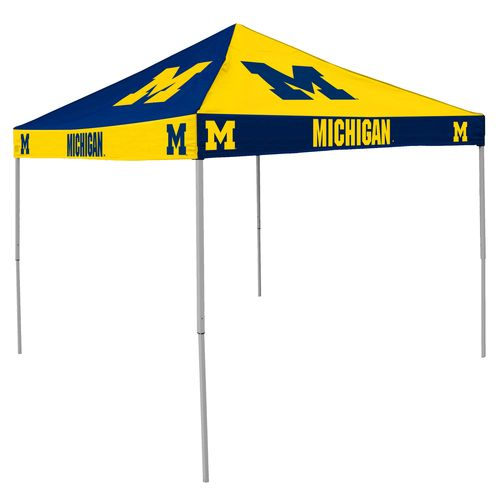 Logo University of Michigan Straight-Leg 9 ft x 9 ft Checkerboard Tent