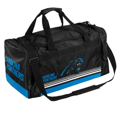 Forever Collectibles™ Carolina Panthers Medium Striped Core Duffel Bag