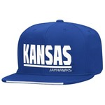 adidas™ Men's University of Kansas Sideline Flat Brim Snapback Cap