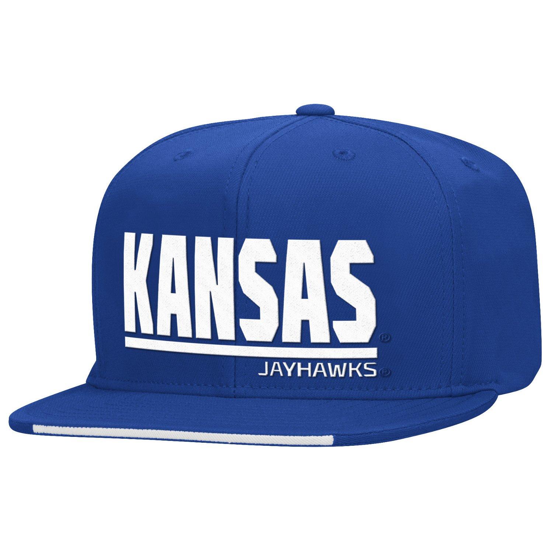 adidas™ Men's University of Kansas Sideline Flat Brim Snapback Cap
