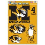WinCraft University of Missouri Multiuse Decals 4-Pack