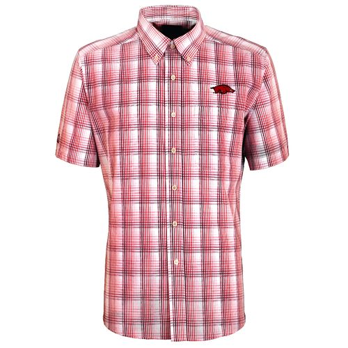 Antigua Men's University of Arkansas Alumni Short Sleeve Shirt