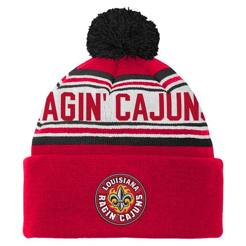 adidas™ Boys' University of Louisiana at Lafayette Cuffed Knit Cap with Pom