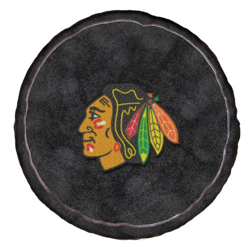 The Northwest Company Chicago Blackhawks Hockey Puck Shaped Plush Pillow