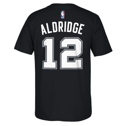 adidas Boys' San Antonio Spurs LaMarcus Aldridge No. 12 T-shirt