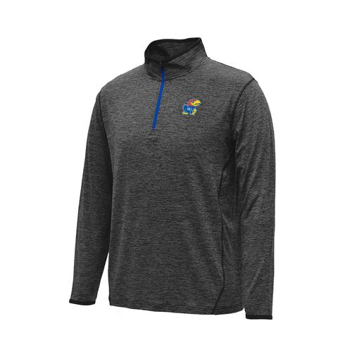 Colosseum Athletics Men's University of Kansas Action Pass Long Sleeve 1/4 Zip Pullover