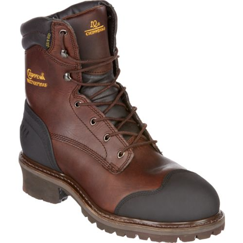 Chippewa Boots Men's Oiled Waterproof Insulated Composition-Toe Logger Rugged Outdoor Boots - view number 2