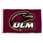 BSI University of Louisiana at Monroe 3' x 5' Flag with 2 Grommets - view number 1