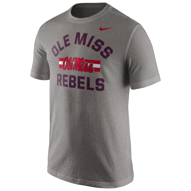 Nike Men's University of Mississippi Short Sleeve Cotton