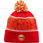 adidas Men's Houston Rockets Cuffed Pom Knit Hat