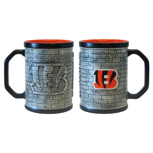 Boelter Brands Cincinnati Bengals Stone Wall 15 oz. Coffee Mugs 2-Pack
