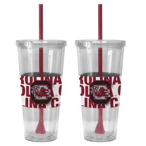 Boelter Brands University of South Carolina Bold Neo Sleeve 22 oz. Straw Tumblers 2-Pack