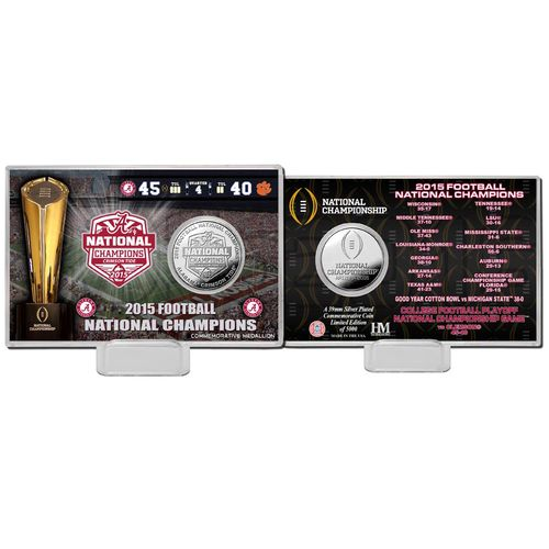 The Highland Mint University of Alabama 2015 National Champions Silver Coin Card
