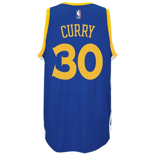 adidas Adults' Golden State Warriors Stephen Curry No. 30 Swingman Jersey hot sale