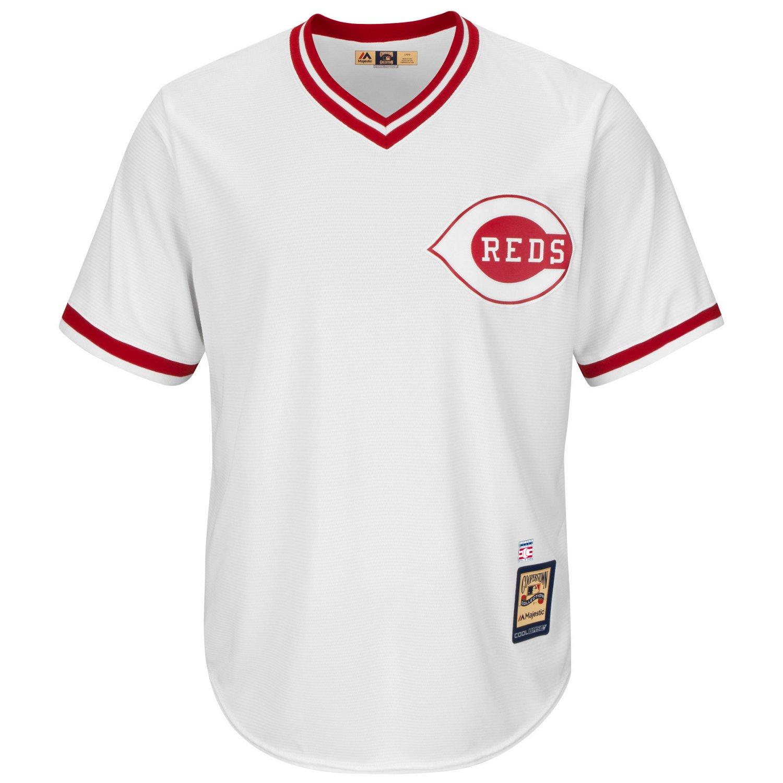 Majestic Men's Cincinnati Reds Joe Morgan #8 Cooperstown Cool Base 1978 Replica Jersey - view number 2