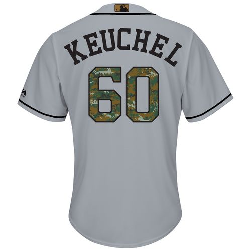 Majestic Men's Houston Astros Dallas Keuchel #60 Memorial Day Cool Base Jersey