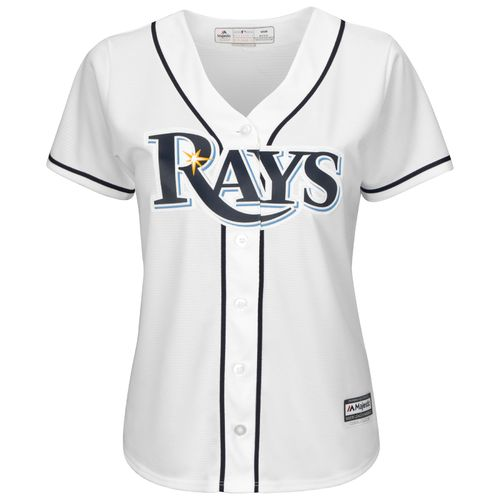 Majestic Women's Tampa Bay Rays Evan Longoria #3 Cool Base Replica Home Jersey - view number 2