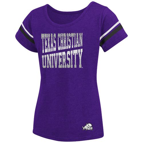 Colosseum Athletics™ Girls' Texas Christian University Fading Dot T-shirt