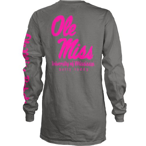 Three Squared Juniors' University of Mississippi Cynthia Pocketed Long Sleeve T-shirt